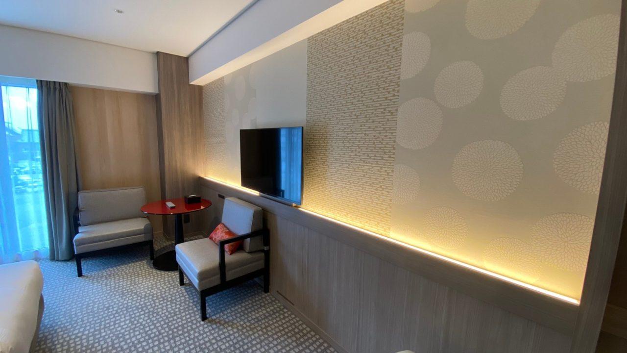 京都東急ホテル コンセプトフロア ツインの部屋の壁紙の画像です。
