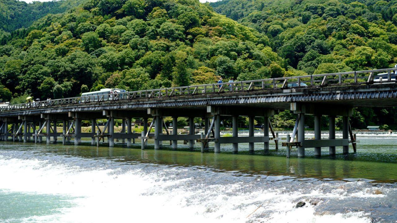 京都 嵐山 渡月橋(kyoto Arashiyama Togetsu-kyo Bridge)の画像