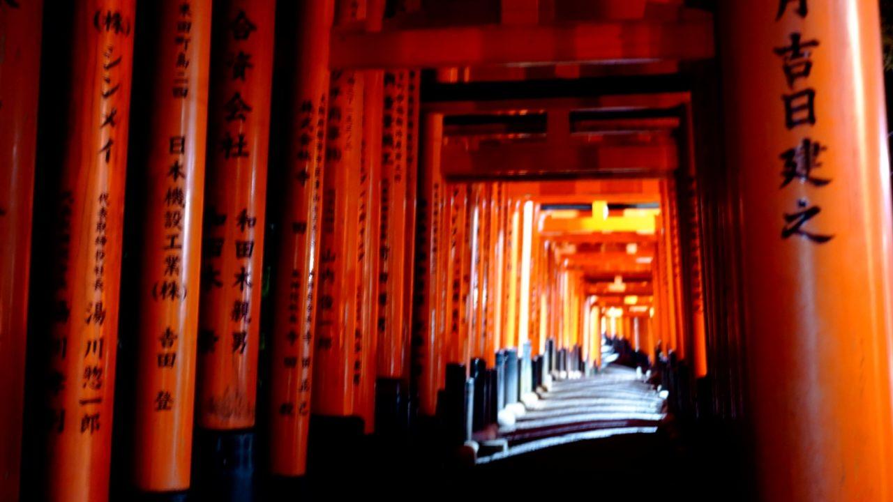 京都 伏見稲荷(Kyoto Fushimi Inari Shrine (Fushimi Inari Taisha))の千本鳥居の画像